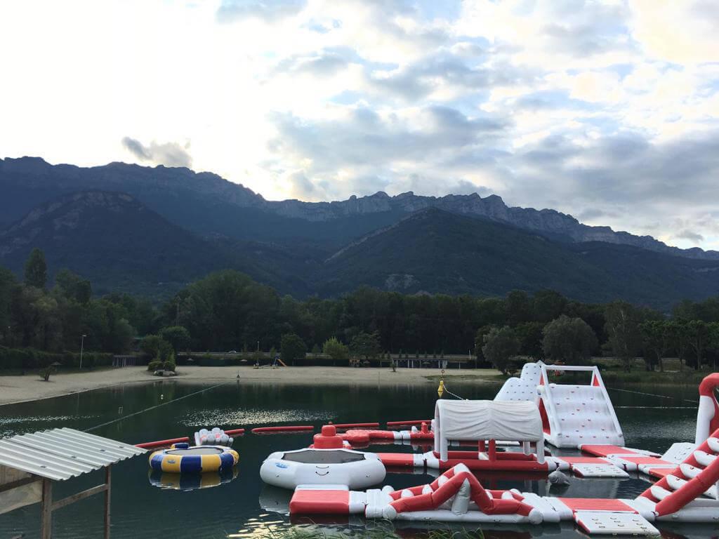 Camping du Lac de la Terrasse - massifs de Belledonne et de la Chartreuse - vallee du Gresivaudan - Baignade